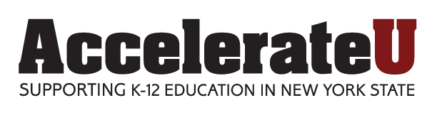 AccelerateU Logo, Supporting K-12 Education in New York State