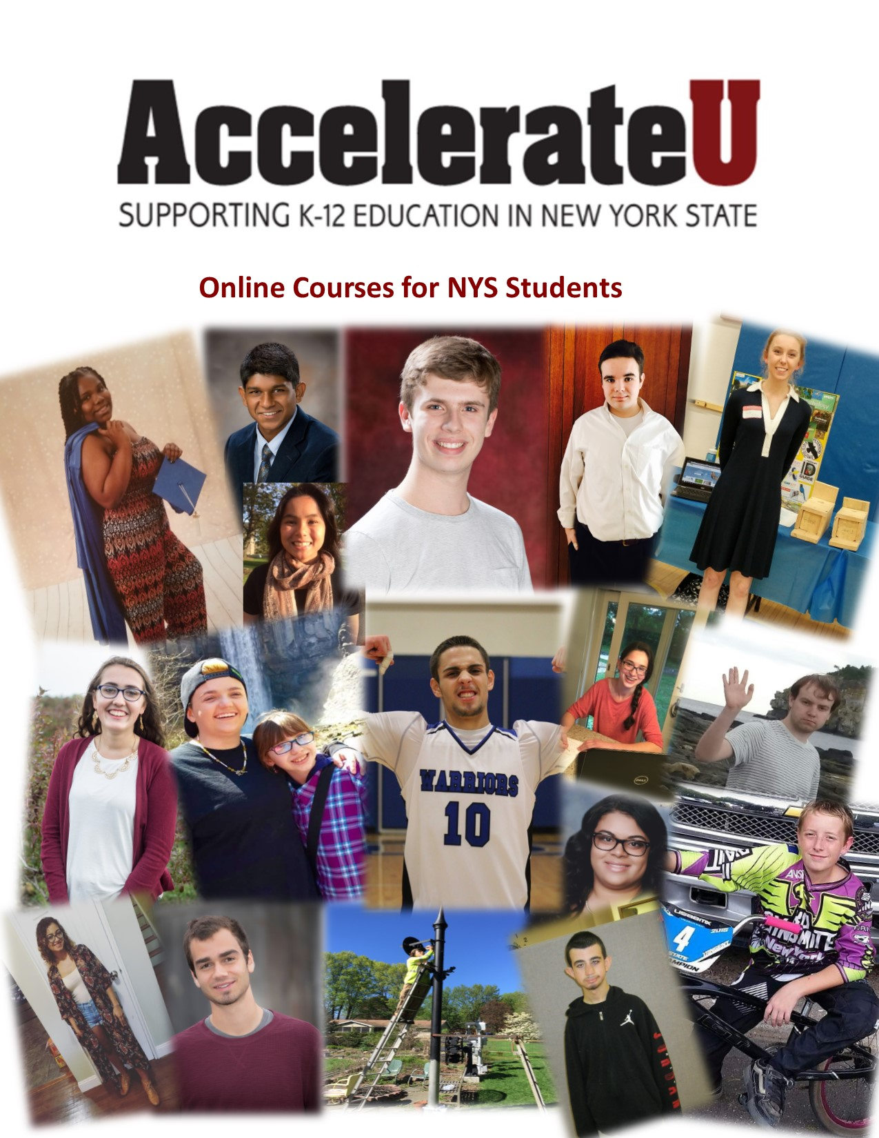 AccelerateU Guide with photos of former students